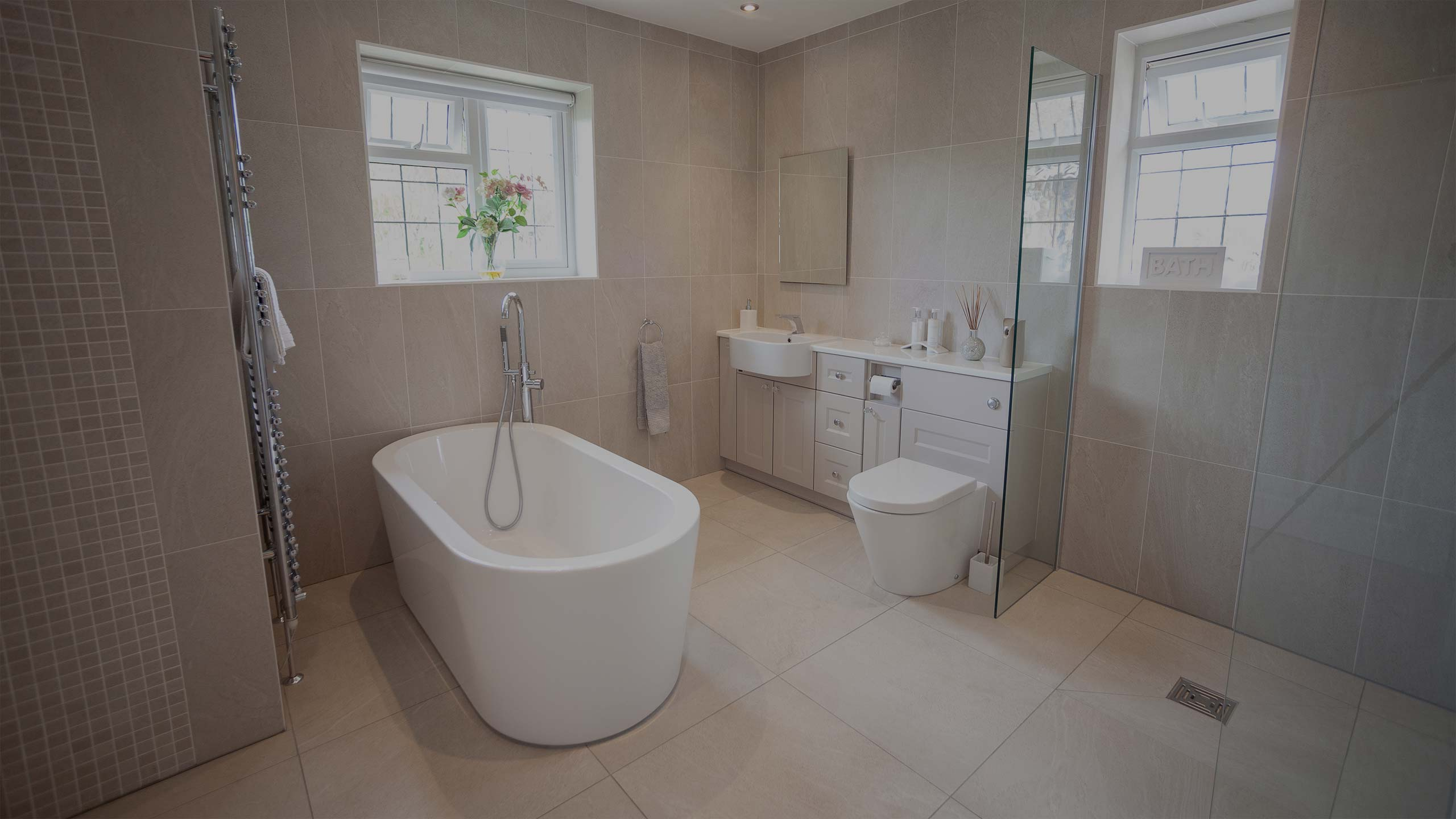 modern bathroom - bathroom installation by RJ Steele builders in Sussex