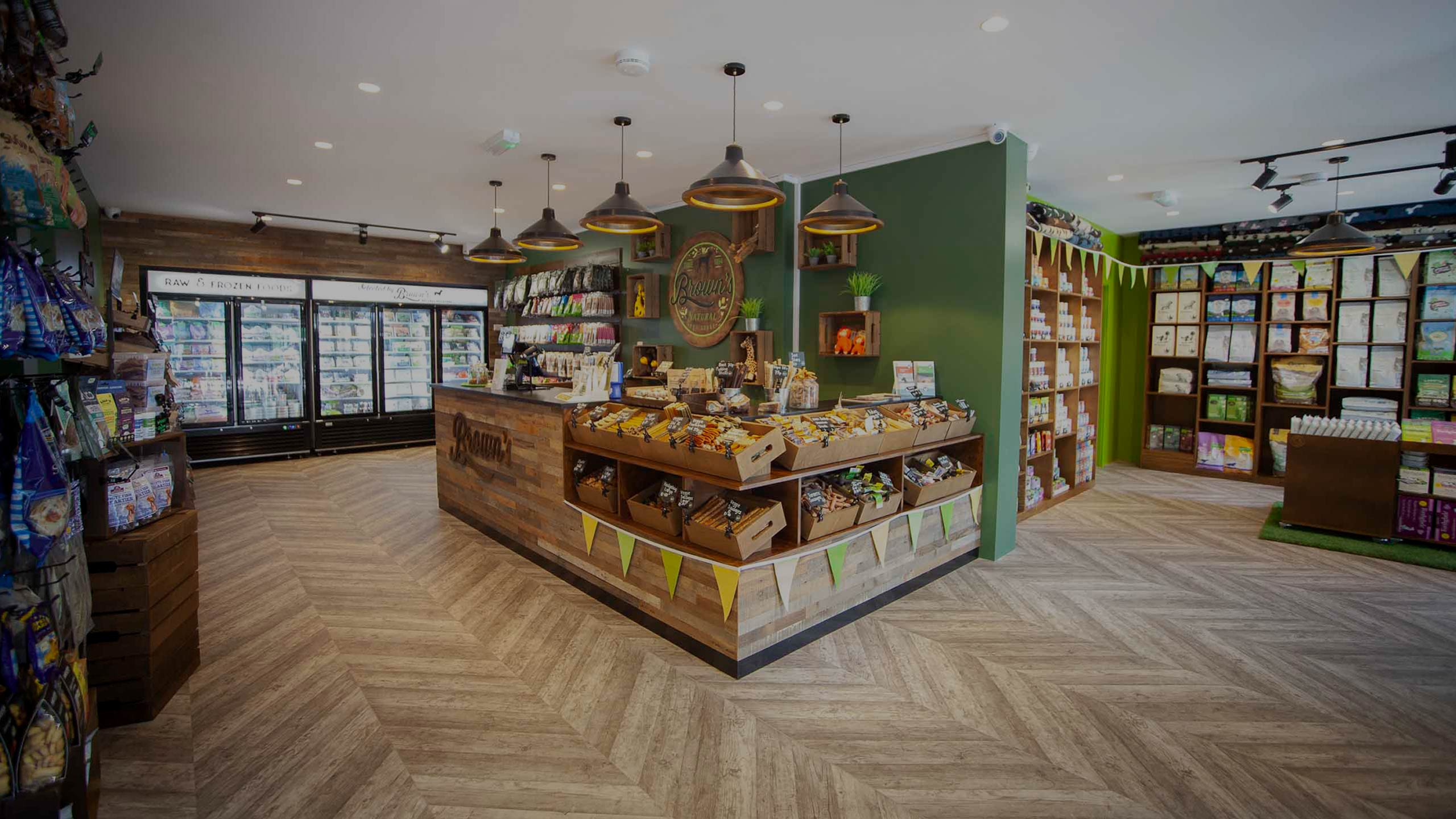 interior of a large pet store - interior fit out by RJ Steeles fit out contractors