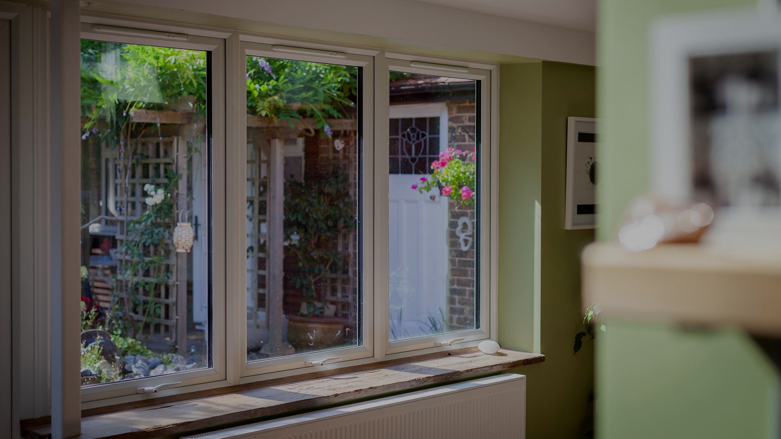Doubled glazed windows from inside extension - building work by RJ Steeles building contractors