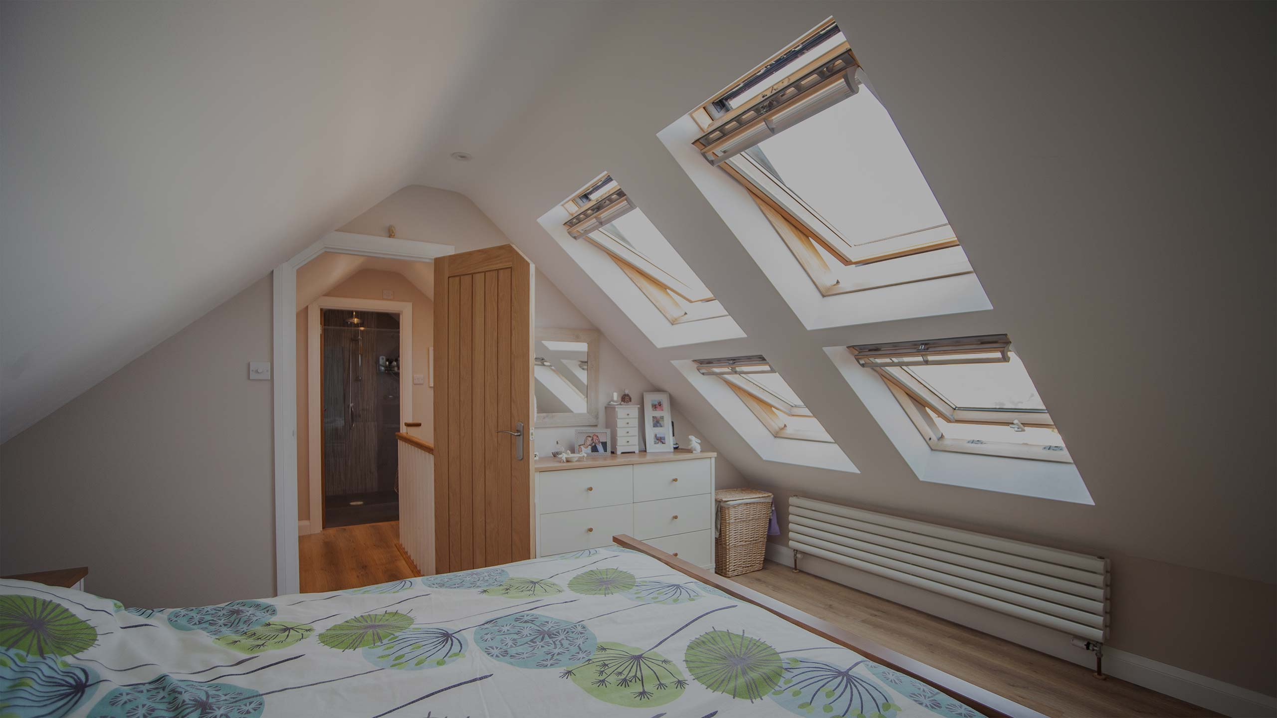 bedroom in the roof - loft conversions by RJ Steeles builders