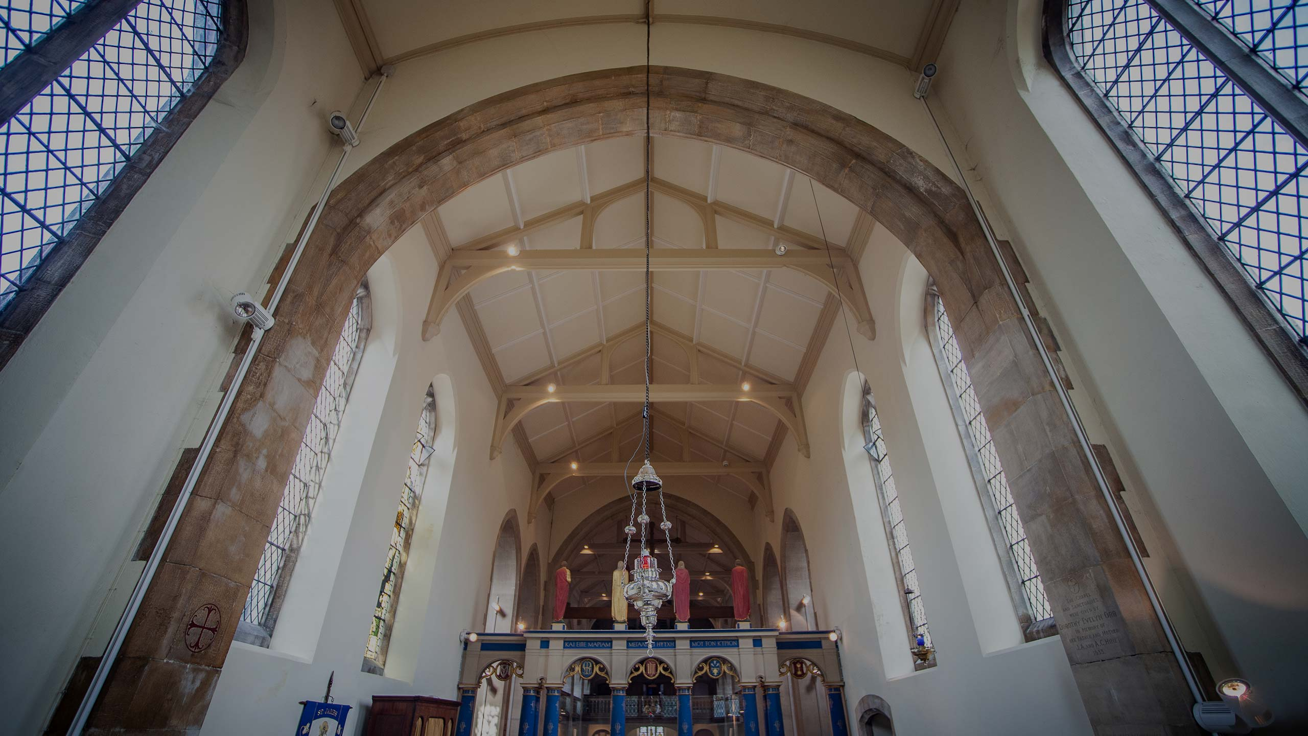 Interior of old church - property renovation by RJ Steeles builders in Sussex