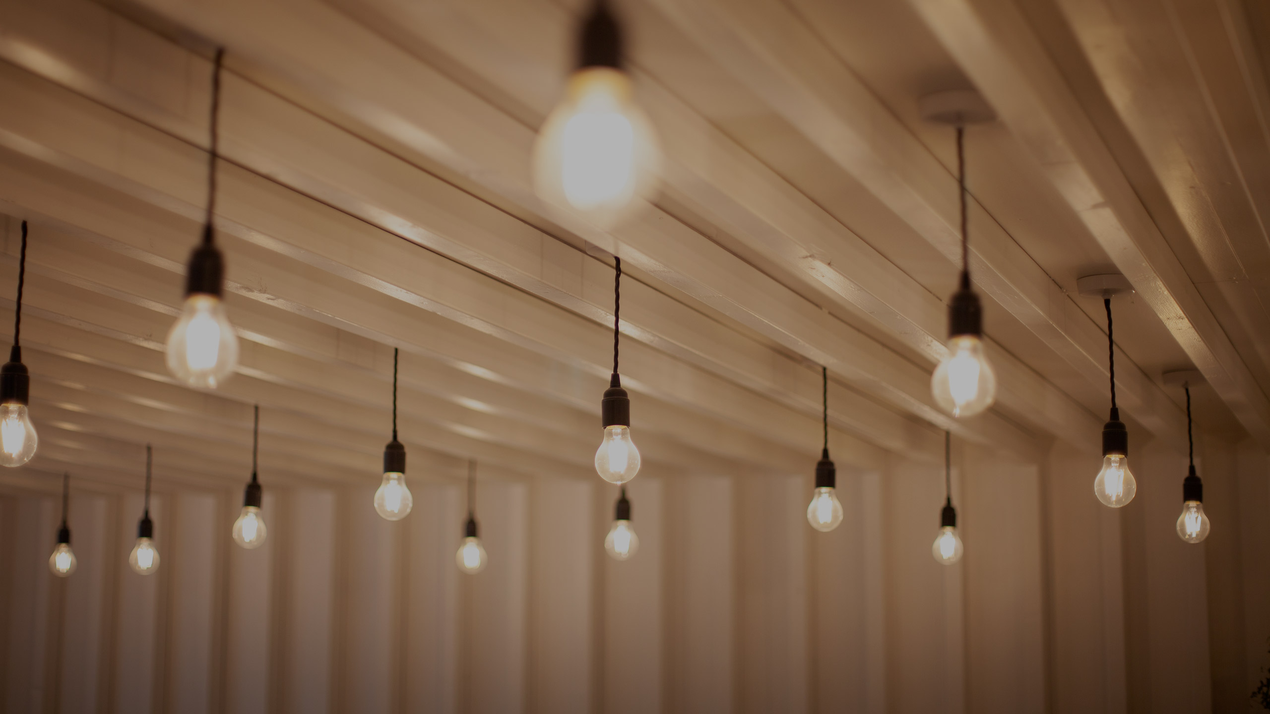Modern lighting installation - electrical services by RJ Steeles building contractors