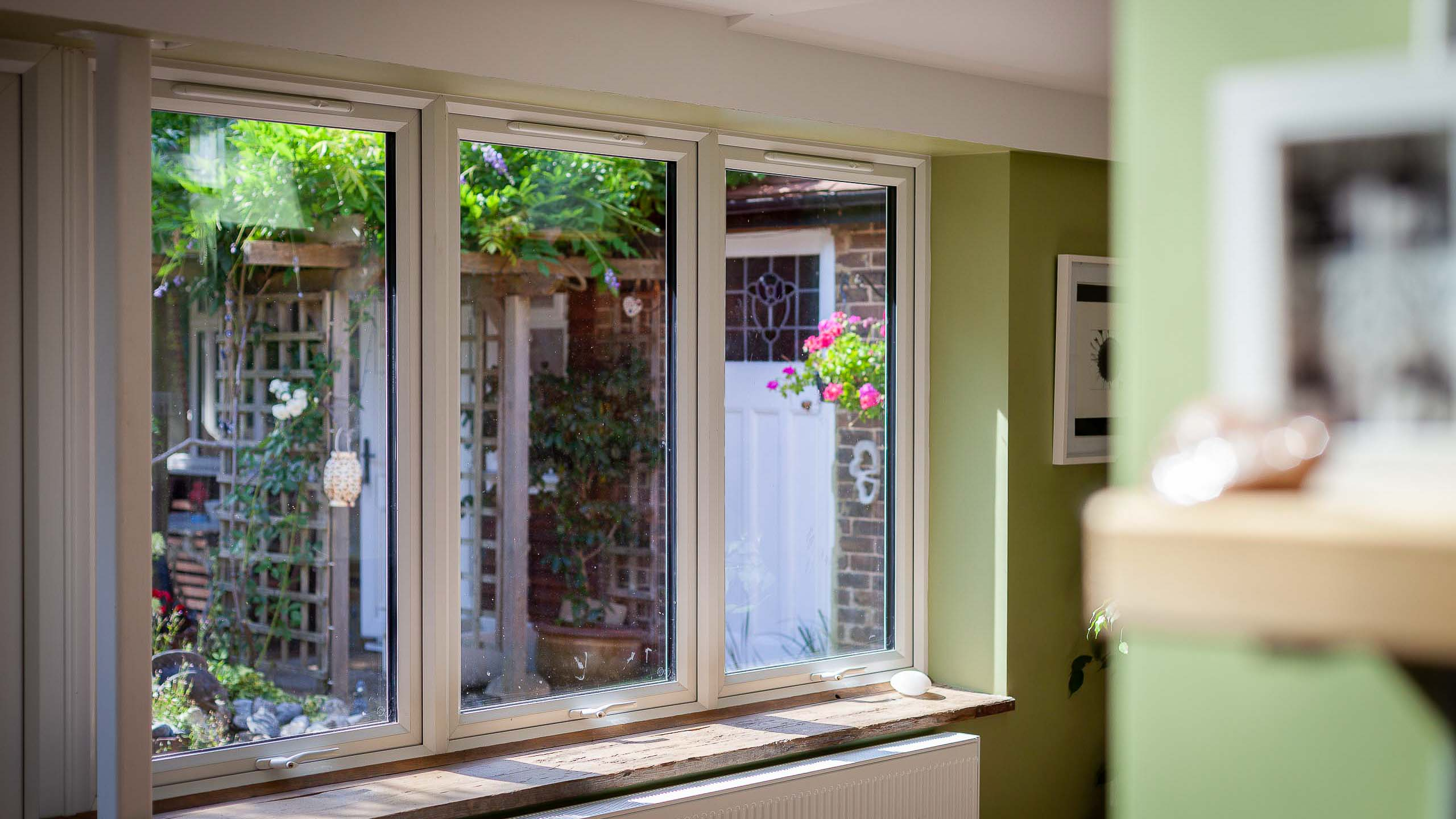 A new rear extension interior that required double glazing - all building services by RJ Steeles builders in Sussex