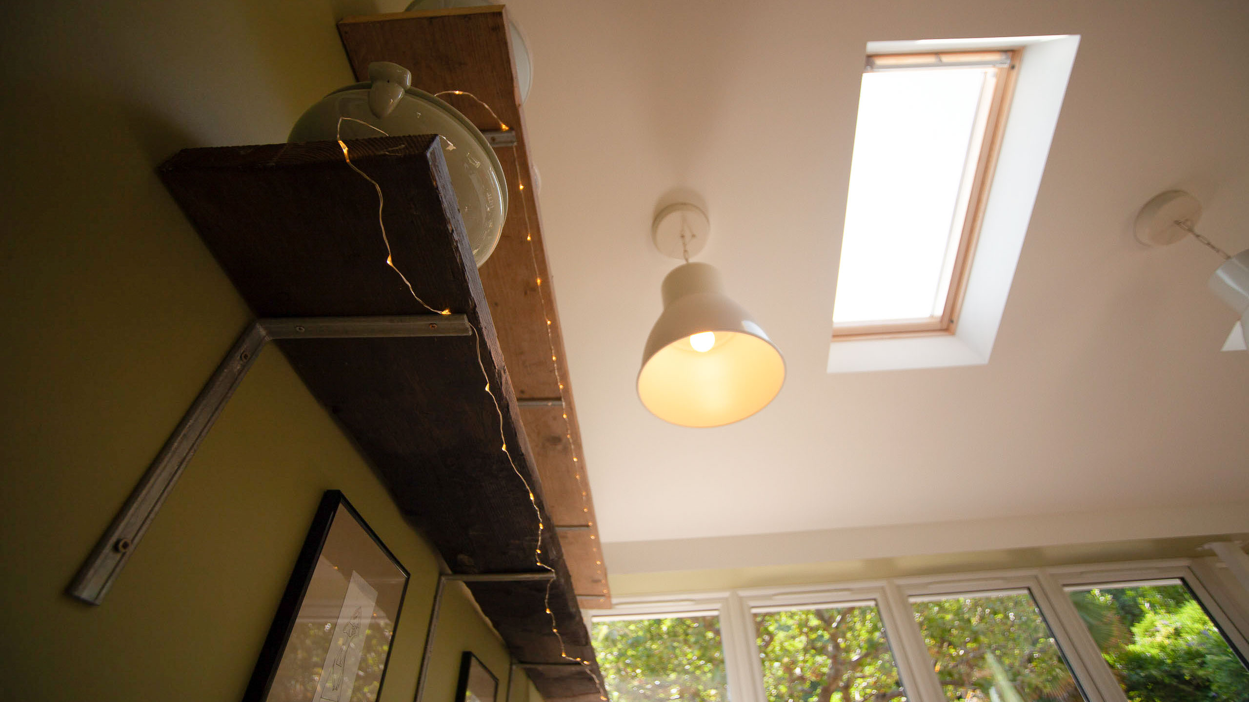 View of skylight in a new extension by RJ Steeles builders in Sussex