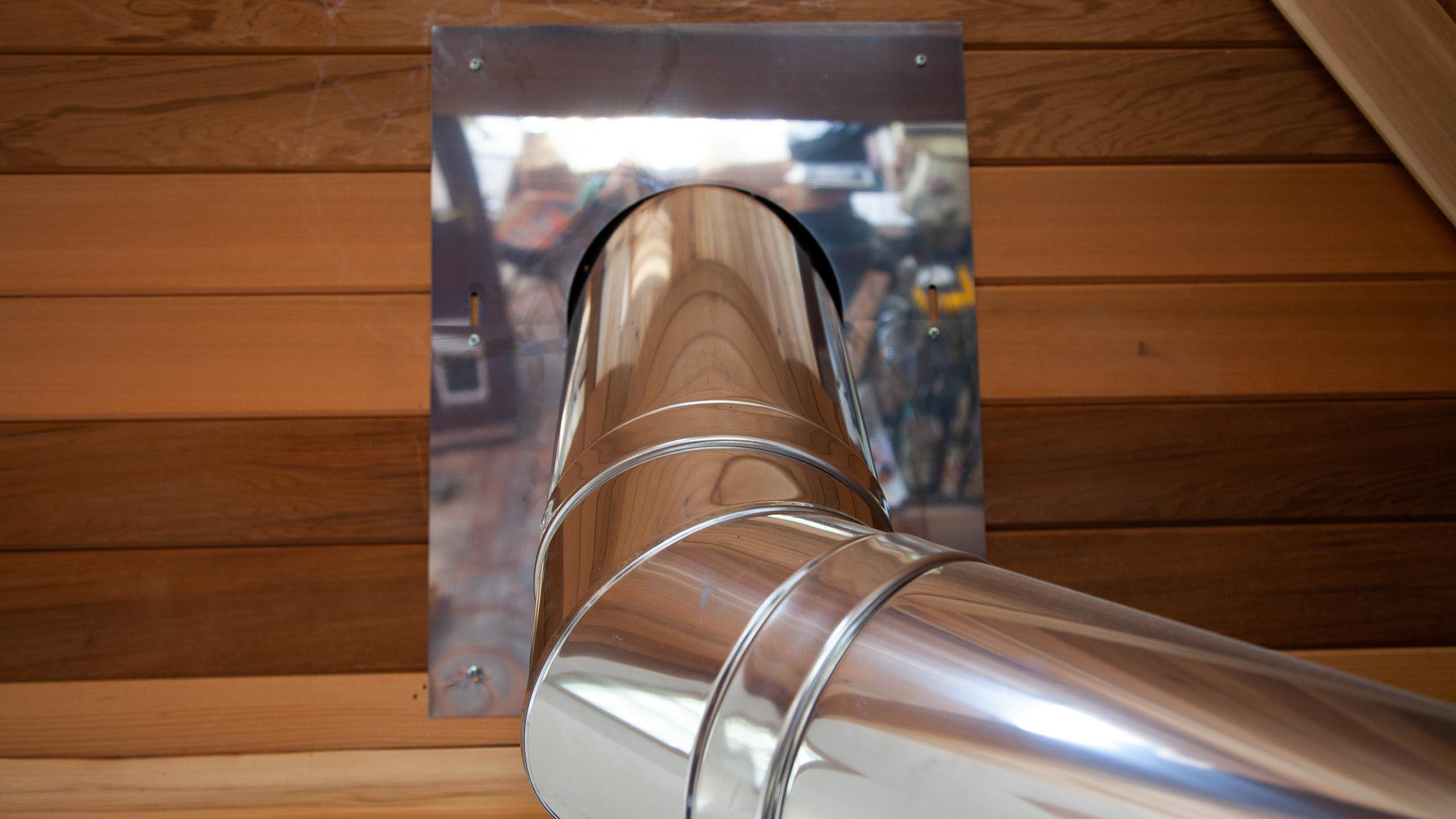 wood burner flue - building work by RJ Steele builders in Sussex