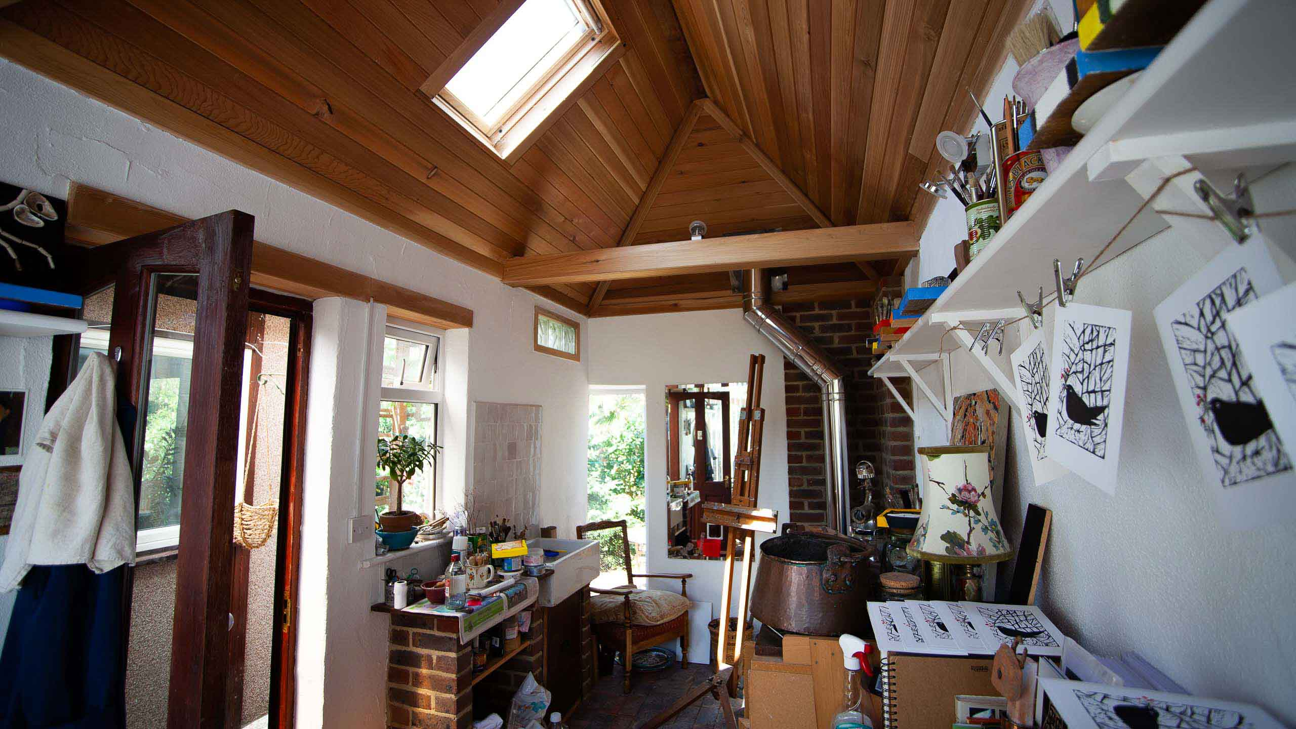 Garden room studio - building work by RJ Steele builders in Sussex
