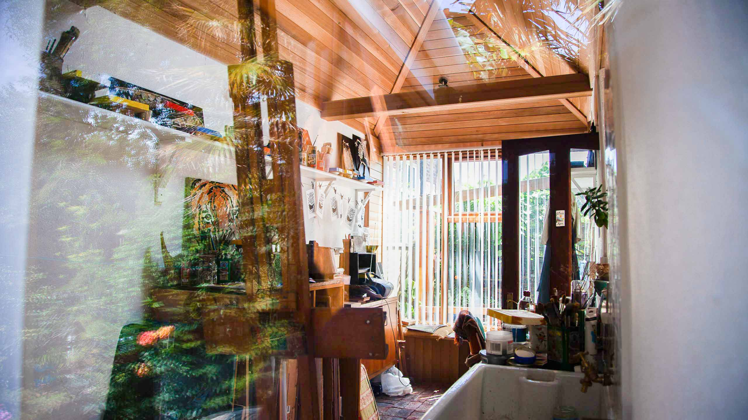 artist's studio garage conversion - building work by RJ Steele builders in Sussex