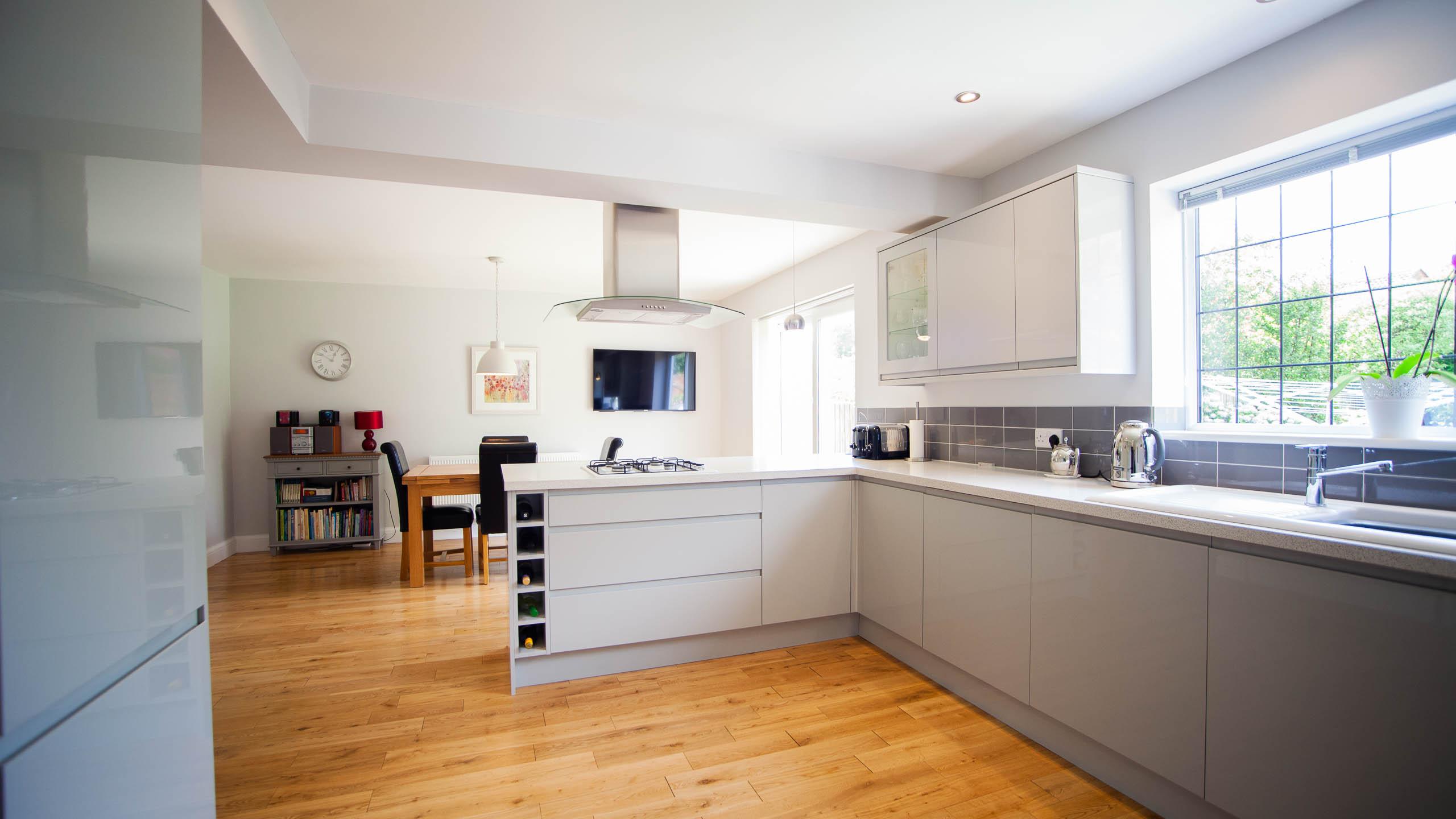 modern kitchen - kitchen installation by RJ Steele builders in Sussex
