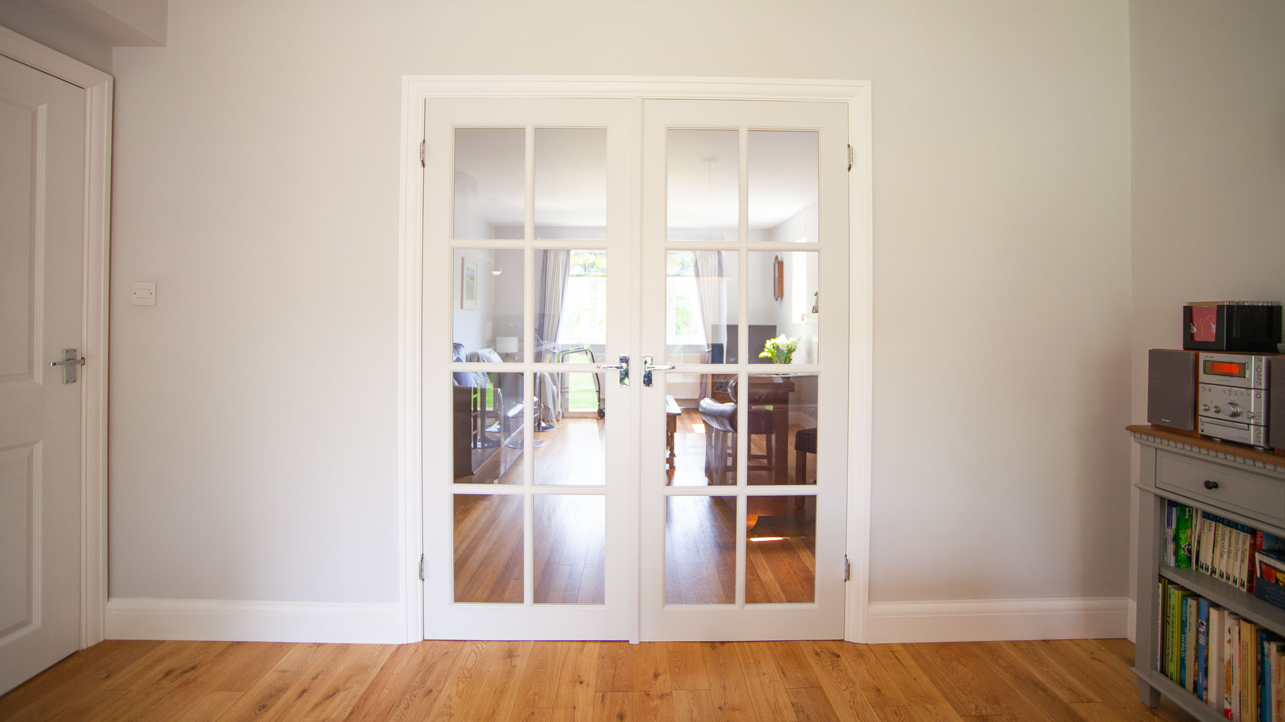 Interior French doors - building work by RJ Steele building contractors