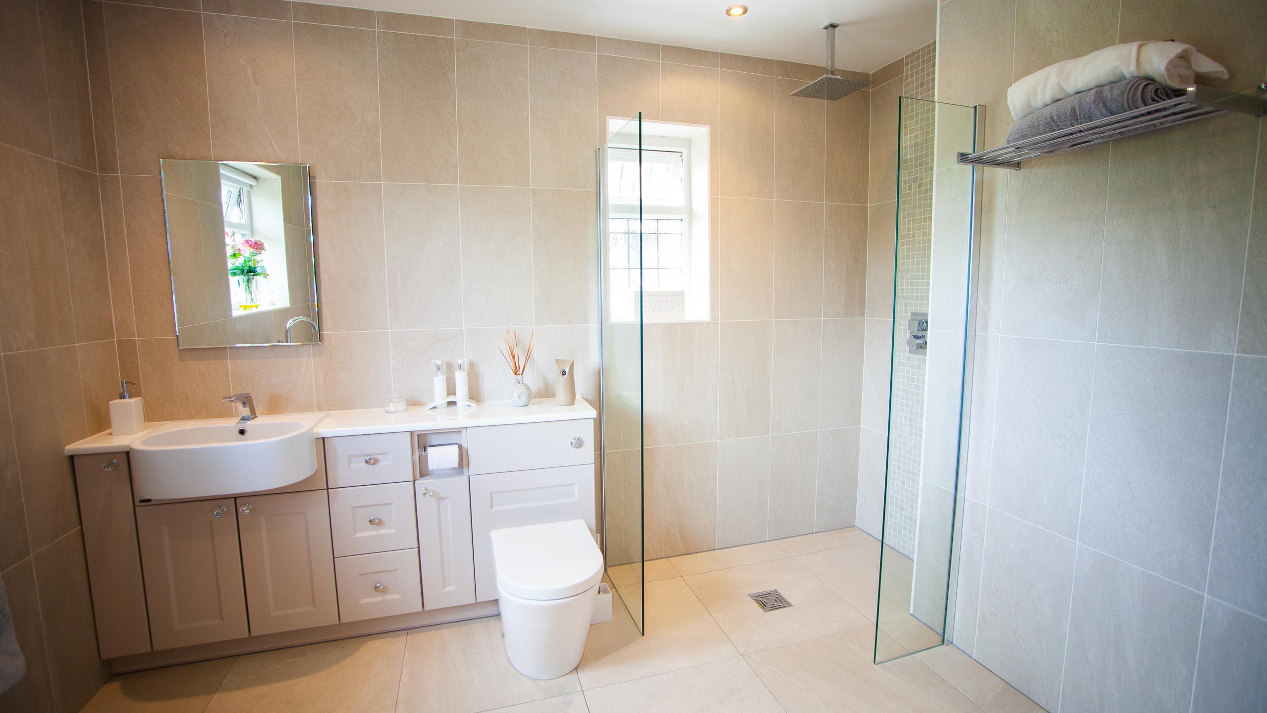 modern bathroom - bathroom installation by RJ Steele builders in Sussex